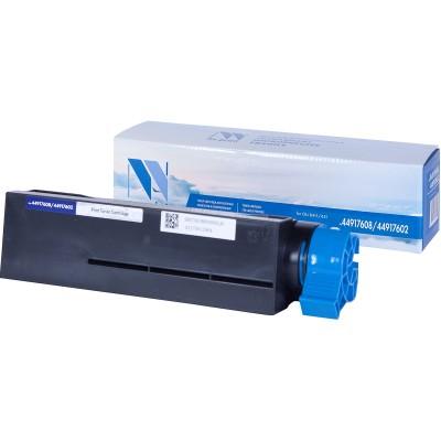 Картридж NV Print 44917608/44917602 черный для Oki, совместимый