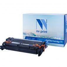 Картридж NV Print Q6470A/Canon 711 черный для HP-Canon, совместимый