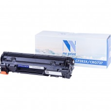 Картридж NV Print CF283X/Canon737 черный для HP-Canon, совместимый